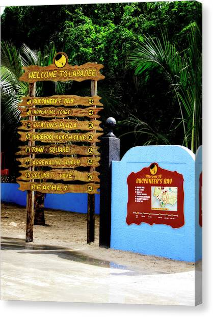 Welcome To Labadee Canvas Print