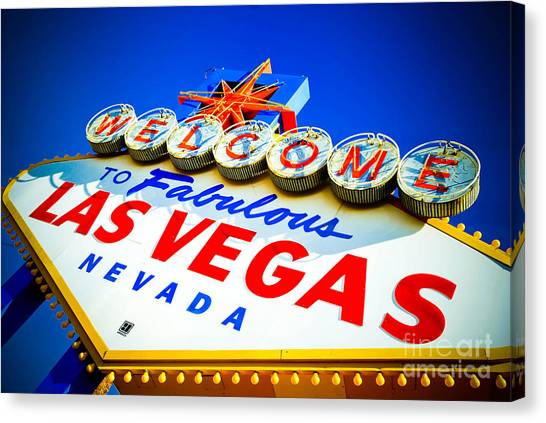 Sin Canvas Print - Welcome To Las Vegas Sign by Amy Cicconi