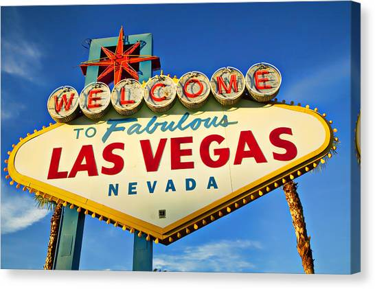 Sin Canvas Print - Welcome To Las Vegas Sign by Garry Gay