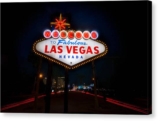 Sin Canvas Print - Welcome To Las Vegas by Steve Gadomski