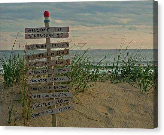 Jerseys Canvas Print - Welcome To Manasquan by Robert Pilkington