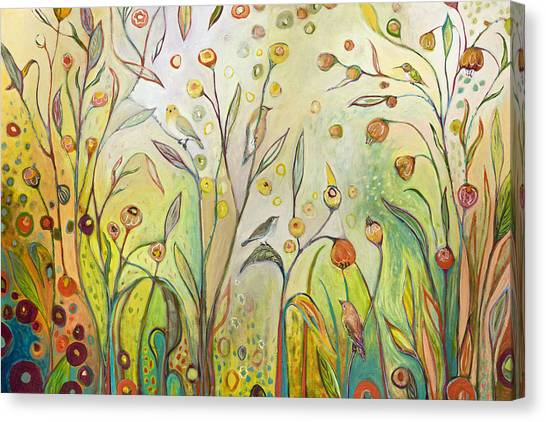Jungle Canvas Print - Welcome To My Garden by Jennifer Lommers