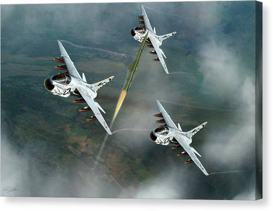 Linebackers Canvas Print - Welcome To North Vietnam by Peter Chilelli