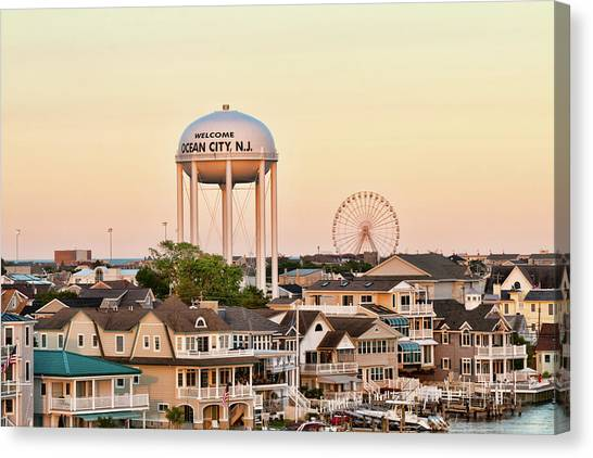 Welcome To Ocean City, Nj Canvas Print