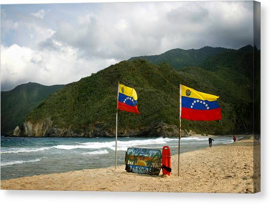 Venezuelan Canvas Print - Welcome To Paradise by Shane Rees