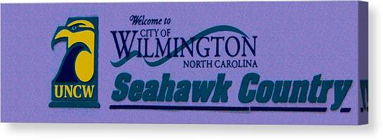 University Of North Carolina Wilmington Uncw Canvas Print - Welcome To Seahawk Country V1 by David Anderson