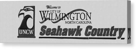 University Of North Carolina Wilmington Uncw Canvas Print - Welcome To Seahawk Country V2 by David Anderson