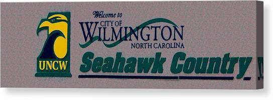 University Of North Carolina Wilmington Uncw Canvas Print - Welcome To Seahawk Country V3 by David Anderson