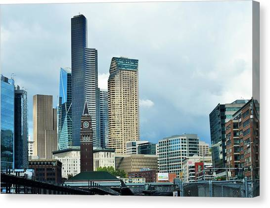 Seattle Mariners Canvas Print - Welcome To Seattle by Lkb Art And Photography