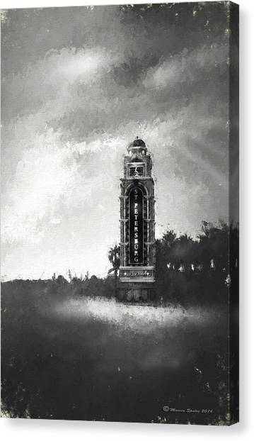 Interstates Canvas Print - Welcome To St. Petersburg by Marvin Spates