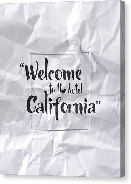 Hotels Canvas Print - Welcome To The Hotel California by Samuel Whitton