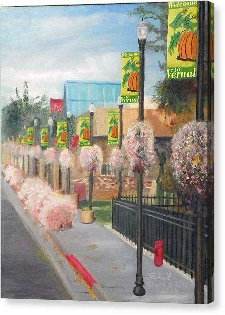 Welcome To Vernal Canvas Print