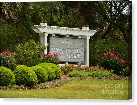 Welcome To Wrightsville Beach Nc Canvas Print