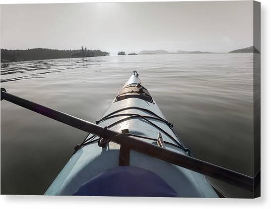 Canoe Canvas Print - Welcome To Your Adventure  by Betsy Knapp