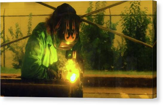 Welder 3 Canvas Print by Andrew Wohl