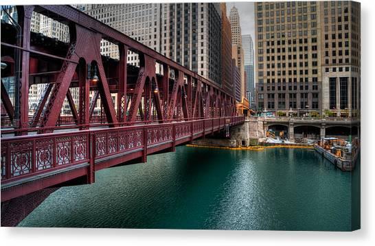 Well Street Bridge, Chicago Canvas Print