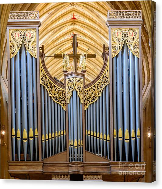 Wells Cathedral Organ Canvas Print