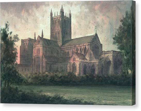 House Of Worship Canvas Print - Wells Cathedral by Paul Braddon