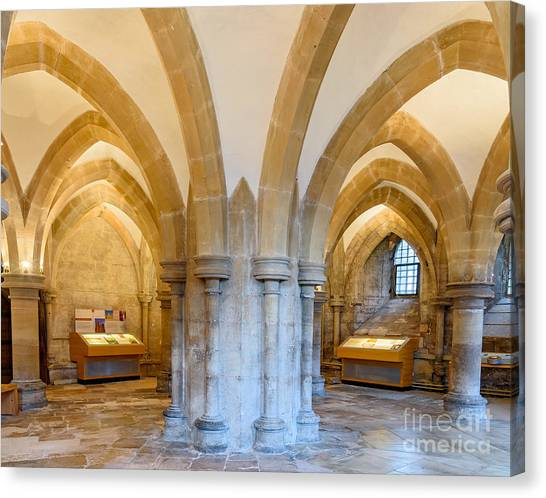 Wells Cathedral Undercroft Canvas Print