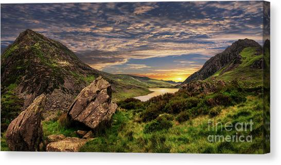 Tryfan Mountain Canvas Print - Welsh Mountains Snowdonia by Adrian Evans