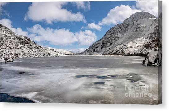 Tryfan Mountain Canvas Print - Welsh Winter by Adrian Evans