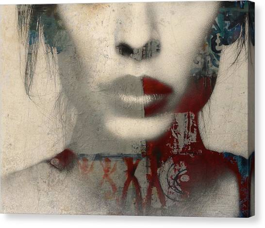 Lips Canvas Print - Were All Alone  by Paul Lovering