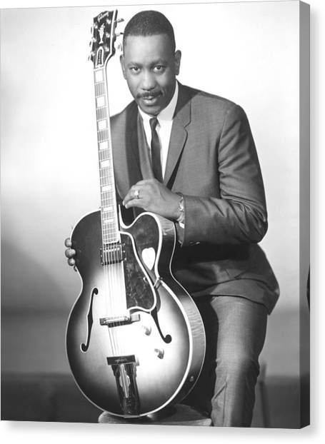 Guitars Canvas Print - Wes Montgomery, Early 1960s by Everett