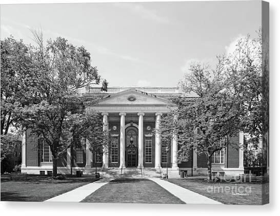 Connecticut Canvas Print - Wesleyan University Olin Library by University Icons