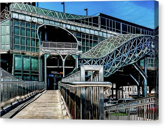 Canvas Print featuring the photograph West 8th Street New York Aquarium Subway Station by Chris Lord