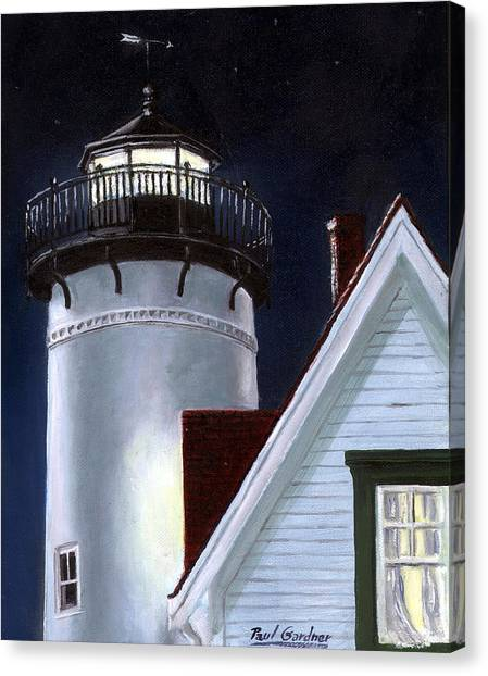 Marthas Vineyard Canvas Print - West Chop Light by Paul Gardner