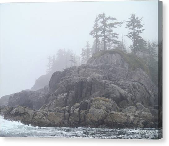 West Coast Landscape Ocean Fog I Canvas Print