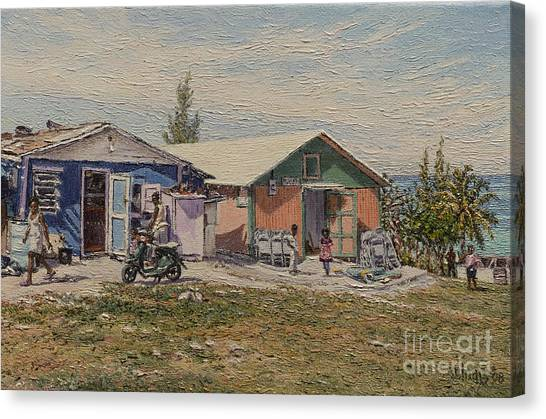 Eleuthera Art Canvas Print - West End - Russell Island by Eddie Minnis
