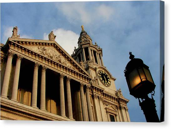 Wrens Canvas Print - West Front Of St.paul's Cathedral, London by Iqbal Misentropy