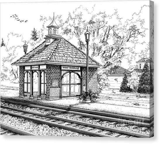 West Hinsdale Train Station Canvas Print