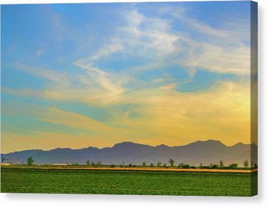 West Phoenix Sunset Digital Art Canvas Print