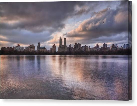 Lake Sunsets Canvas Print - West Side Story by Evelina Kremsdorf