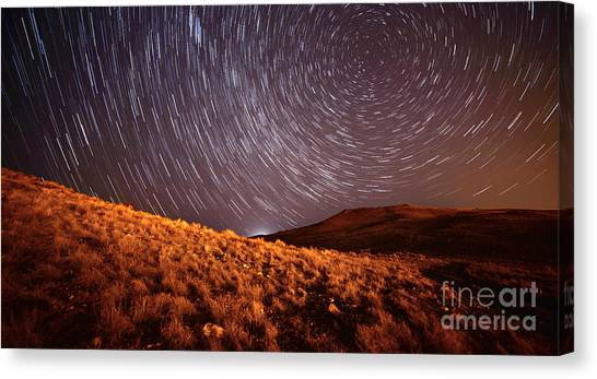 Canvas Print featuring the photograph West Side Volcano by Brian Spencer