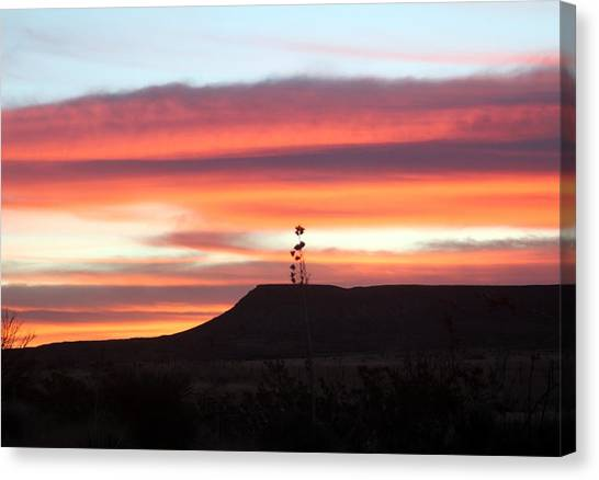 Mile Marker 122 West Texas Sunrise Canvas Print