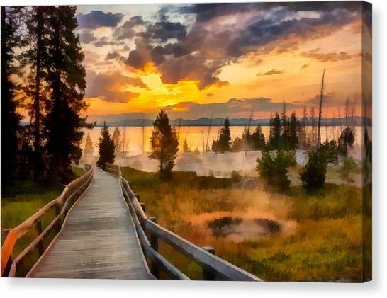 West Thumb Sunrise Canvas Print