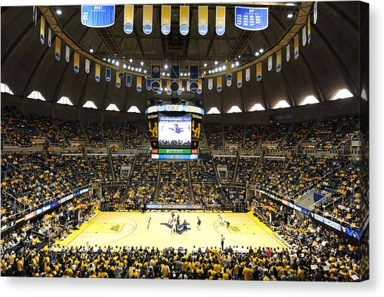 Big West Canvas Print - West Virginia Mountaineers Wvu Coliseum by Replay Photos