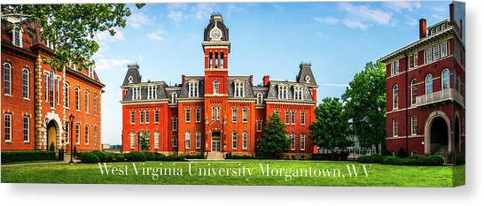 West Virginia University Wvu Canvas Print - West Virginia University by Aaron Geraud