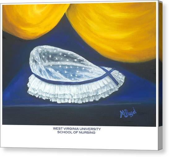 West Virginia University School Of Nursing Canvas Print