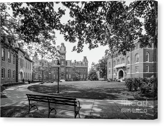 West Virginia Canvas Print - West Virginia University Woodburn Circle by University Icons