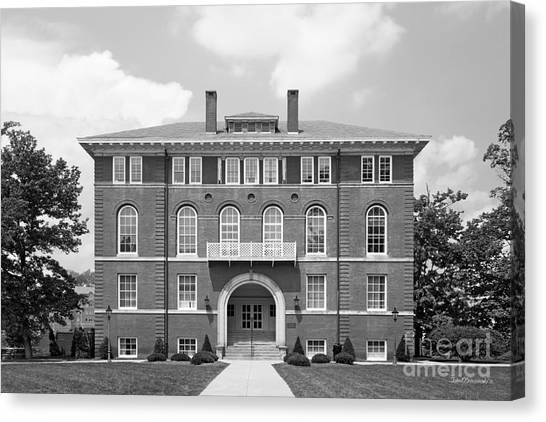 West Virginia University Wvu Canvas Print - West Viriginia University Chitwood Hall by University Icons