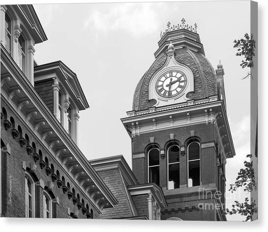Big Xii Canvas Print - West Viriginia University Clock Tower by University Icons