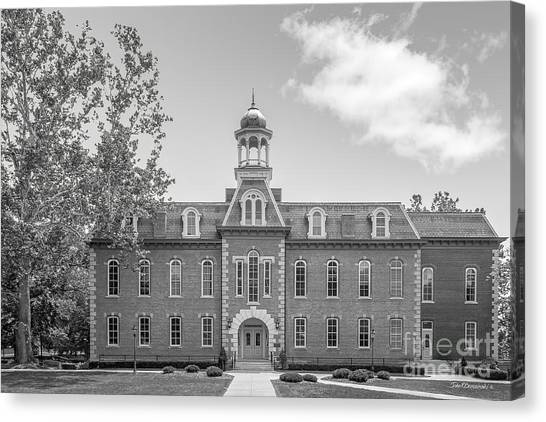 West Virginia University Wvu Canvas Print - West Viriginia University Martin Hall by University Icons