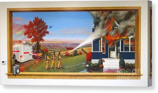 Medivac Canvas Print - Westby-christiana Fire Mural by Sarah Pederson