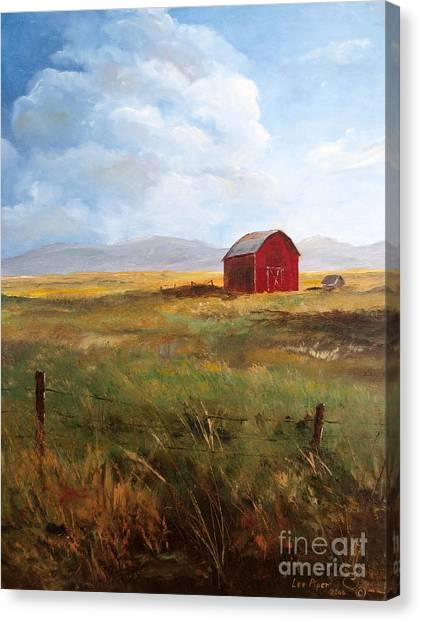 Western Barn Canvas Print