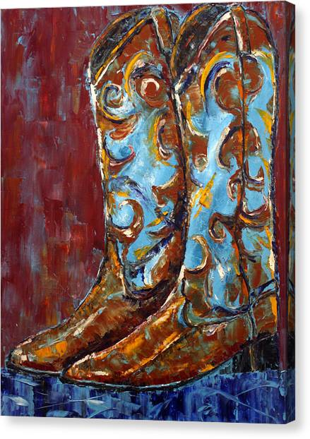 Western Boots Canvas Print