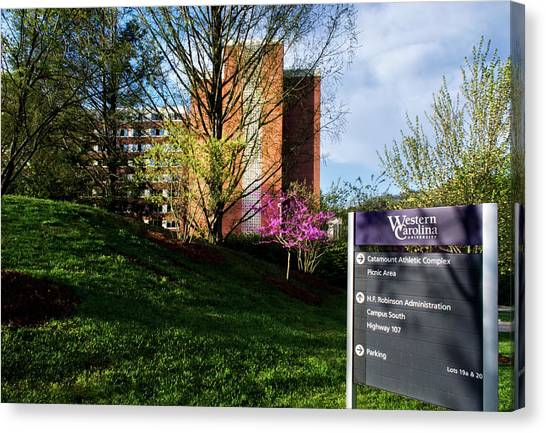 Western Carolina University Sign Canvas Print